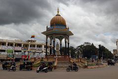Miastowy styl i cechy Mysore w India Zdjęcie Stock
