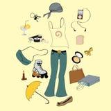 Miastowy styl życia royalty ilustracja