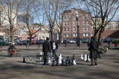 Miastowy szachy Zdjęcie Royalty Free