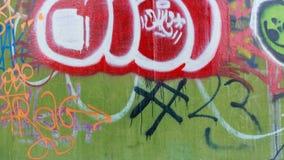 Miastowy sztuka graffiti ściany tło Fotografia Royalty Free