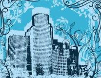 miastowy tła grunge royalty ilustracja
