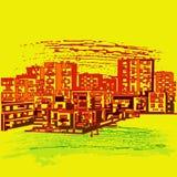 miastowy tła pejzaż miejski Zdjęcie Royalty Free