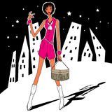 Miastowy tła covergirl Zdjęcie Royalty Free
