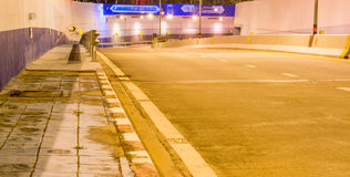miastowy tunel bez ruchu drogowego Obrazy Stock