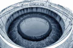 Miastowy wastewater zakład przeróbki fotografia stock