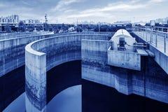 Miastowy wastewater zakład przeróbki obraz royalty free