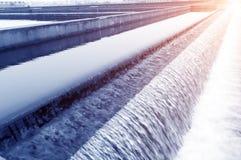 Miastowy wastewater zakład przeróbki zdjęcie stock