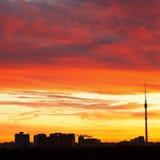Miastowy wczesnego poranku wschód słońca Zdjęcia Royalty Free