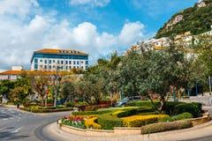 Miastowy widok Gibralta zdjęcie royalty free