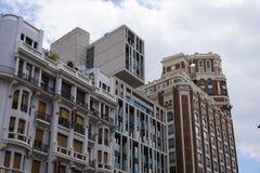 Miastowy widok w Madryt Zdjęcia Royalty Free