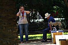 Miastowy życie w Seville 15 Obrazy Royalty Free