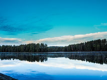 Miauczenie jeziora 3 zmierzchu Ontario Algonquin prowincjonału park Obraz Stock