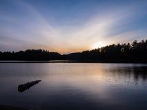 Miauczenie jezioro Snset Zdjęcia Stock