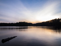 Miauczenie jezioro Snset Fotografia Royalty Free