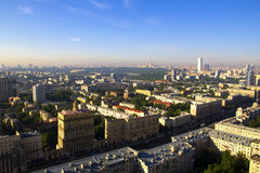 MIBC莫斯科-日落的城市 免版税图库摄影