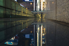 MIBC Μόσχα - πόλη στο ηλιοβασίλεμα Στοκ Εικόνες