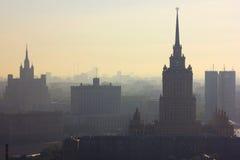 MIBC Μόσχα - πόλη στο ηλιοβασίλεμα Στοκ Εικόνα