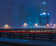 MIBC in first snow storm Royalty Free Stock Photography