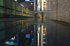 MIBC Moscou - cidade no por do sol Imagens de Stock