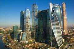 MIBC Moskau - Stadt bei Sonnenuntergang Stockbild