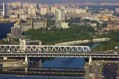 MIBC Moskau - Stadt bei Sonnenuntergang Lizenzfreies Stockbild