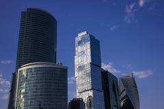 MIBC-Moskva - stad på solnedgången Royaltyfria Bilder
