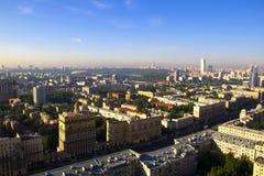 MIBC-Moskva - stad på solnedgången Royaltyfri Fotografi