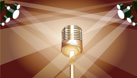 Mic. Easy to resize or change color Royalty Free Stock Photos