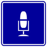 广播mic话筒符号向量 免版税库存图片