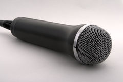 Mic. Black mic isolated on white background Royalty Free Stock Photo