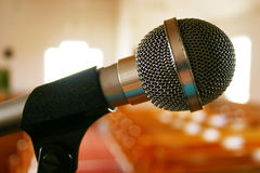 Mic. In Church stock image