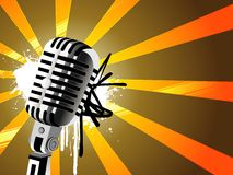 Mic abstract design Royalty Free Stock Photos
