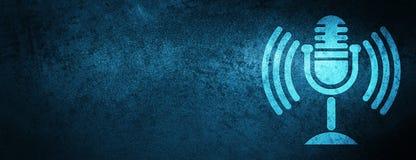 Mic achtergrond van de pictogram de speciale blauwe banner vector illustratie