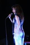_Mic_Artist Woman_Singer_Music_ Live Concert Stockbild