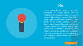 Mic Banner Concept illustration stock