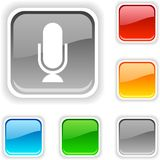 Mic Button. Stock Images