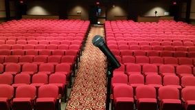 Mic Check. Beautiful Theater in Henrico, VA Royalty Free Stock Image