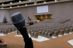 Mic at Church royalty free stock photo
