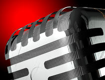 Mic detail isolated. Royalty Free Stock Photo