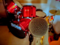 Mic and drum Royalty Free Stock Photo