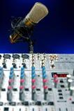 Mic e misturador vocais Foto de Stock