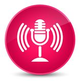 Mic icon elegant pink round button Royalty Free Stock Photography