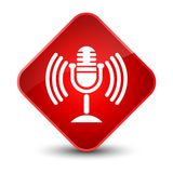 Mic icon elegant red diamond button Royalty Free Stock Images