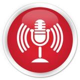Mic icon premium red round button Stock Photo