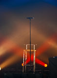 Mic in Lights Royalty Free Stock Photos