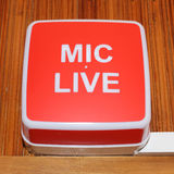 Mic live sign Royalty Free Stock Image