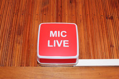Mic live sign Stock Photo