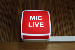 Mic live sign Stock Photography