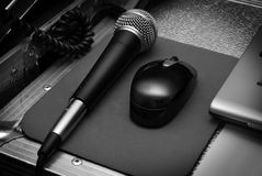 Mic and Mouse Royalty Free Stock Photography