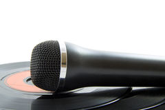 Mic on plastic Stock Photo